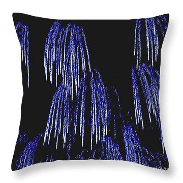 Cascading Fireworks Throw Pillow by DigiArt Diaries by Vicky B Fuller