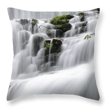 Cascading Mirror Lake Falls Throw Pillow