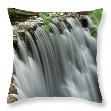 Cascading Water Throw Pillow