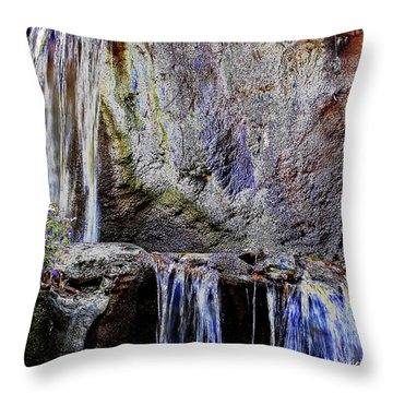 Cascading Water Solarized Throw Pillow