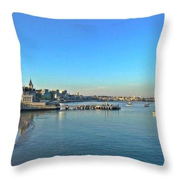 Cascais Marina Throw Pillow