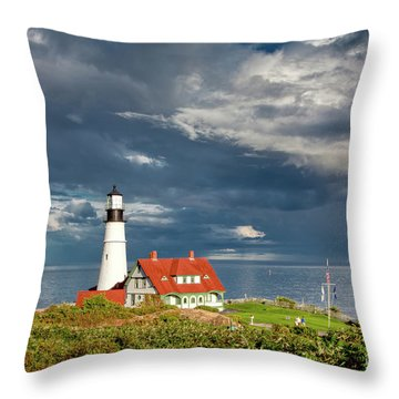 Throw Pillow featuring the photograph Casco Bay Lookout by Susan Cole Kelly