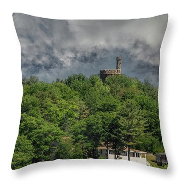 Throw Pillow featuring the photograph Casco Castle 5733 by Guy Whiteley