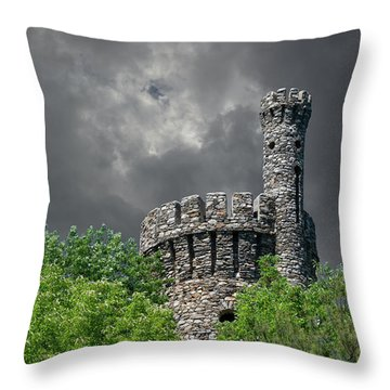 Throw Pillow featuring the photograph Casco Castle by Guy Whiteley