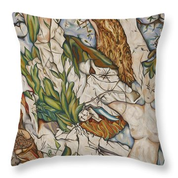 Case Of Forest Throw Pillow by Turgay Denizel