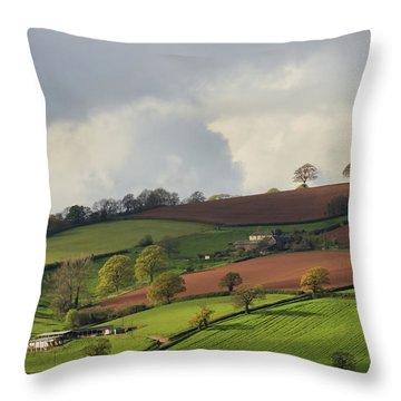 Caseberry Downs In Devon Throw Pillow