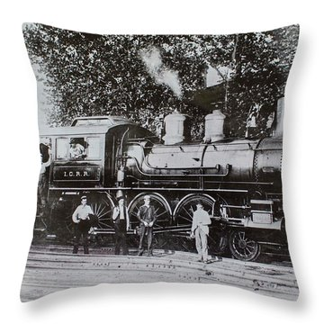 Casey Jones Engine  Throw Pillow