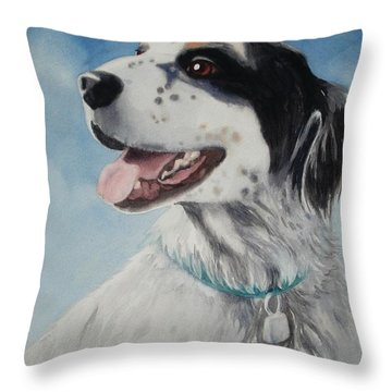 Casey Throw Pillow by Marilyn Jacobson