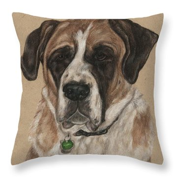 Throw Pillow featuring the drawing Casey  by Meagan  Visser