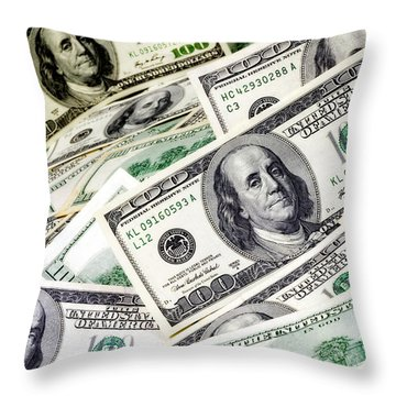 Cash Money Throw Pillow