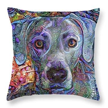 Cash The Blue Lacy Dog Closeup Throw Pillow
