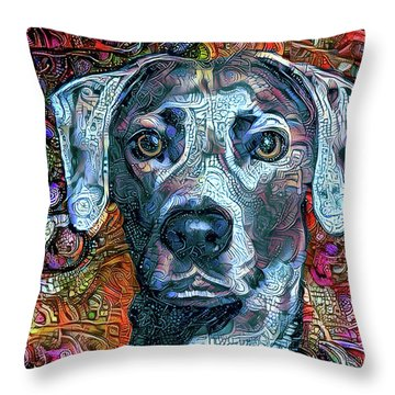 Cash The Blue Lacy Dog Throw Pillow