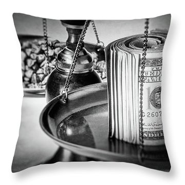 100 Dollar Bill Throw Pillows