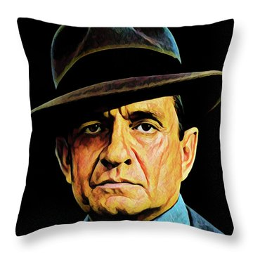 Cash With Hat Throw Pillow