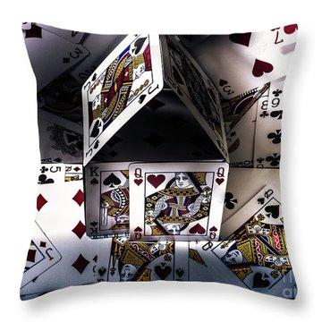 Casino House Throw Pillow
