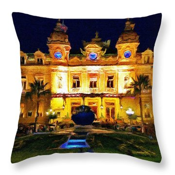 Casino Monte Carlo Throw Pillow