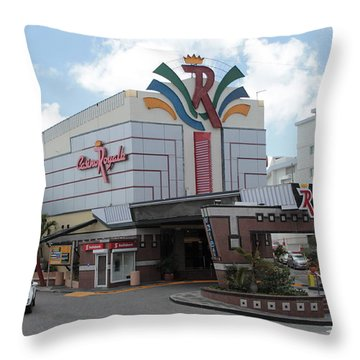 Casino Royale St. Maarten Throw Pillow
