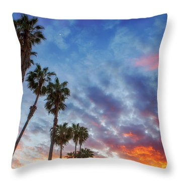 Casitas Palms Throw Pillow