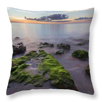Caspersen Beach Sunset Throw Pillow