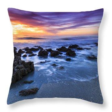 Casperson Beach Sunset 2 Throw Pillow