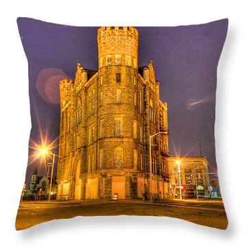 Cass Castle Detroit Mi Throw Pillow