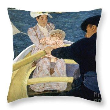 Cassatt: Boating, 1893-4 Throw Pillow by Granger