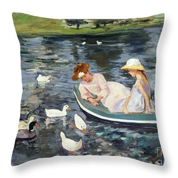 Cassatt: Summertime, 1894 Throw Pillow by Granger
