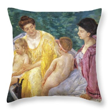 Cassatt: The Swim, 1910 Throw Pillow by Granger