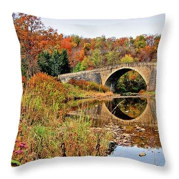 Casselman River Bridge Throw Pillow