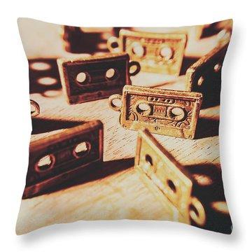 Cassette Club Dance Throw Pillow