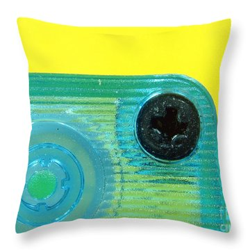 Cassette Tape Closeup Throw Pillow by Yali Shi