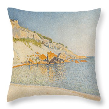 Throw Pillow featuring the painting Cassis. Cap Lombard. Opus 196 by Paul Signac