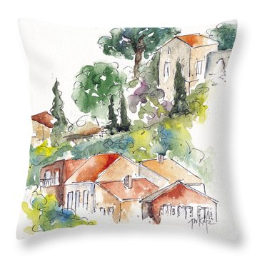 Cassis Hillside Throw Pillow