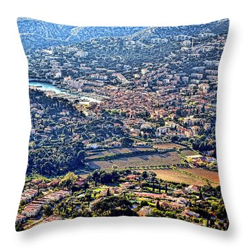 Cassis Throw Pillow by Olivier Le Queinec