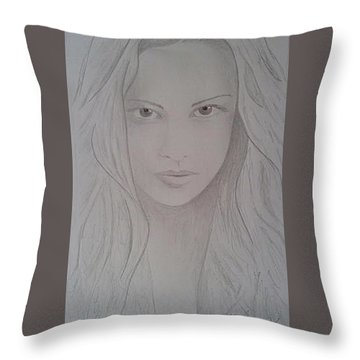 Cassy Blakemore  Throw Pillow by Sheila Renee Parker