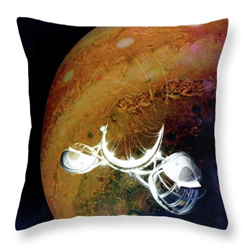 Throw Pillow featuring the photograph Cast Away by Alex Lapidus