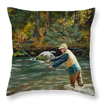 Cast Away Throw Pillow by Mary Benke