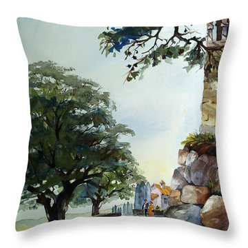 Castel At Borgo Rapale Throw Pillow