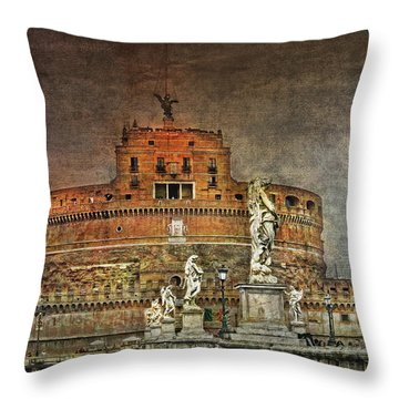 Throw Pillow featuring the photograph Castel Sant Angelo Fine Art by Hanny Heim