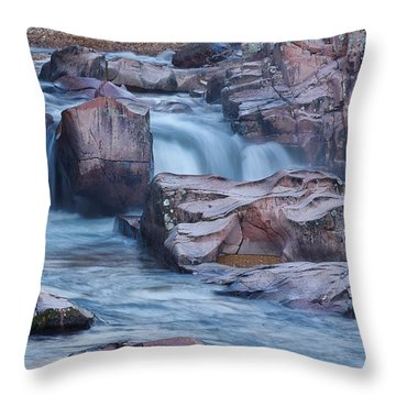 Caster River Shut-in Throw Pillow by Robert Charity