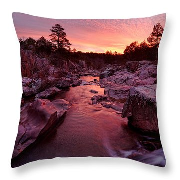 Caster River Shutins Throw Pillow by Robert Charity