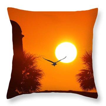 Castillio De San Marcos Throw Pillow