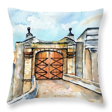 Castillo De San Cristobal Entry Gate Throw Pillow