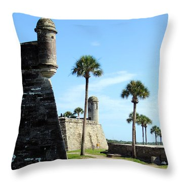 Castillo De San Marcos St Augustine Florida Throw Pillow by Bill Holkham