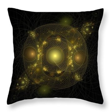 Throw Pillow featuring the digital art Casting Nets For Pearls by Richard Ortolano