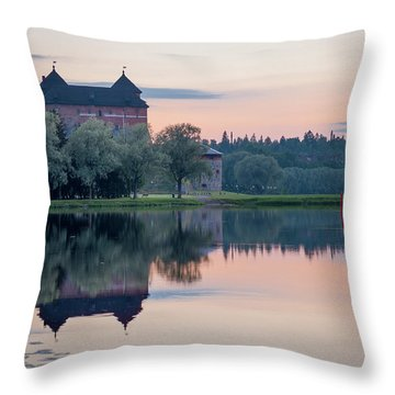 Castle After The Sunset Throw Pillow