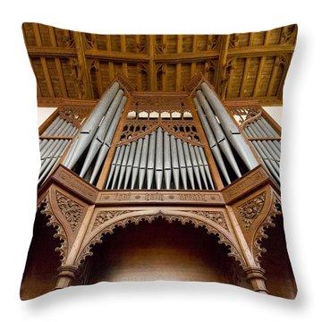 Castle Ashby Pipe Organ Throw Pillow