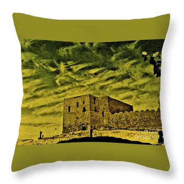Castle Aswan Throw Pillow