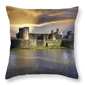 Castle At Dawn Throw Pillow