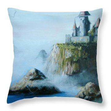 Castle At Dragon Point Throw Pillow